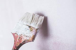 Wide Paint Brush Lime Wash finish