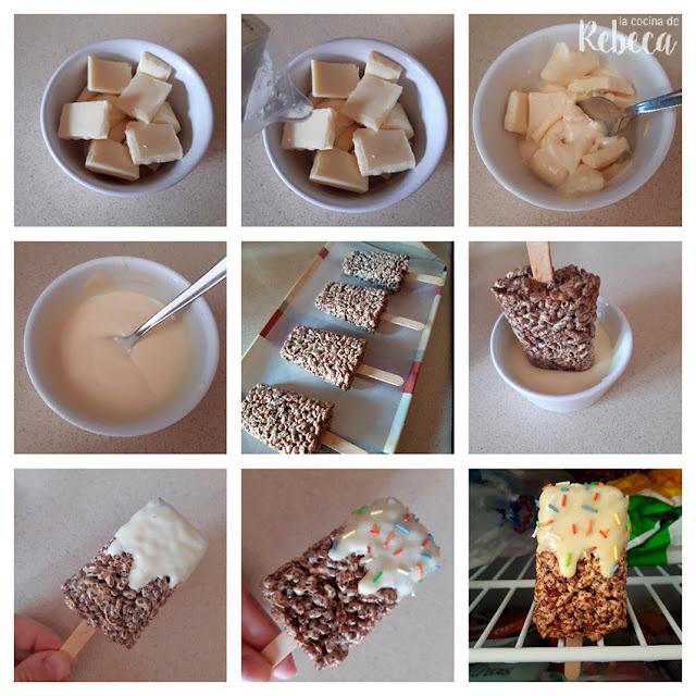 Receta de snack de arroz inflado: decoración