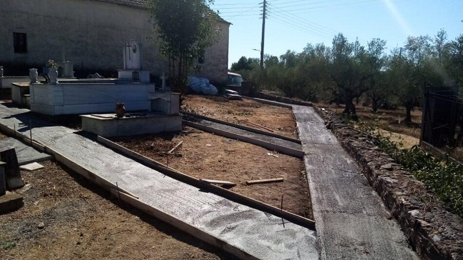 ΝΕΕΣ  συντηρήσεις σε Κοιμητήρια Κοινοτήτων της Καλαμάτας