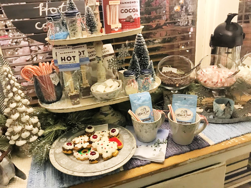 a hot chocolate bar with toppings