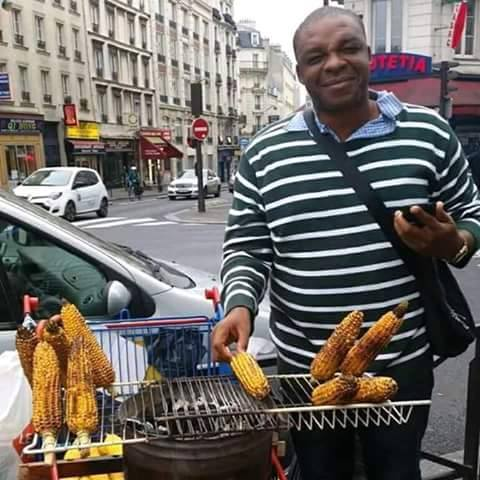 How Anambra Man Who Sells Roasted Corn In Dubai To Make A Living Story : Photos
