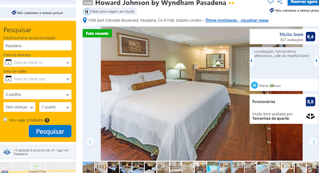 Estadia no Hotel Howard Johnson by Wyndham Pasadena