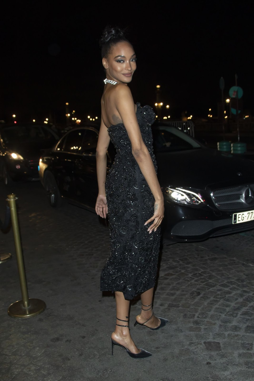 Jourdan Dunn – Arrives at the CR Fashion Book X Redemption Party in Paris