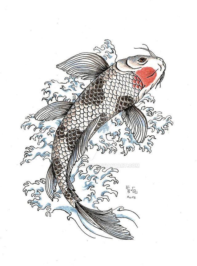 Hình Xăm Nghệ Thuật Cá Chép Hóa Rồng Đẹp & Ấn Tượng Nhất Năm