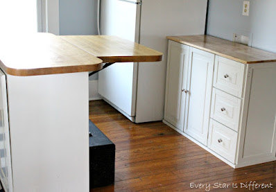 A Minimalist Montessori Kitchen: Extending Island