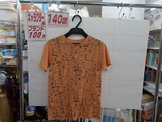 キャラクター&ブランド100円子供服、140㎝Tシャツスヌーピー