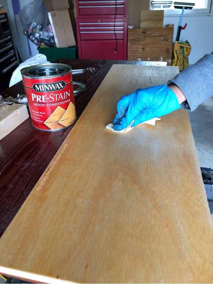 Applying Pre Stain to floating shelves
