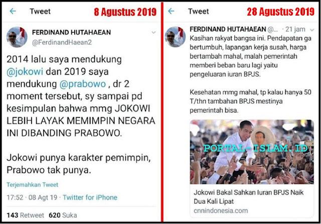 Kadung Memuji Jokowi, Ferdinand Akhirnya Harus Telan Ludah Sendiri