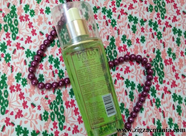 Lotus Herbals Basiltone Toner (Cucumber & Basil) Review