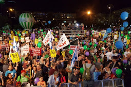 Manifestação pelo reconhecimento do Estado da Palestina em Israel