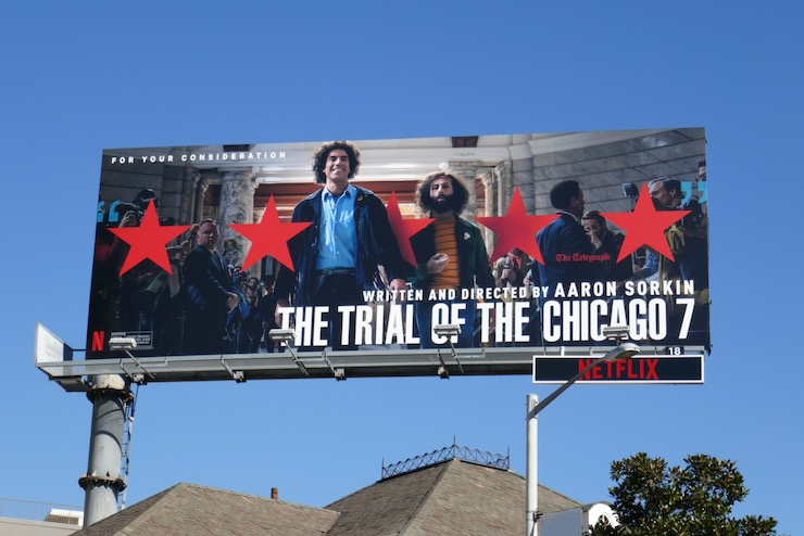 Trial of Chicago film FYC billboard