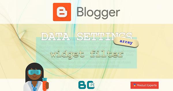 Blogger - Array - widget filter