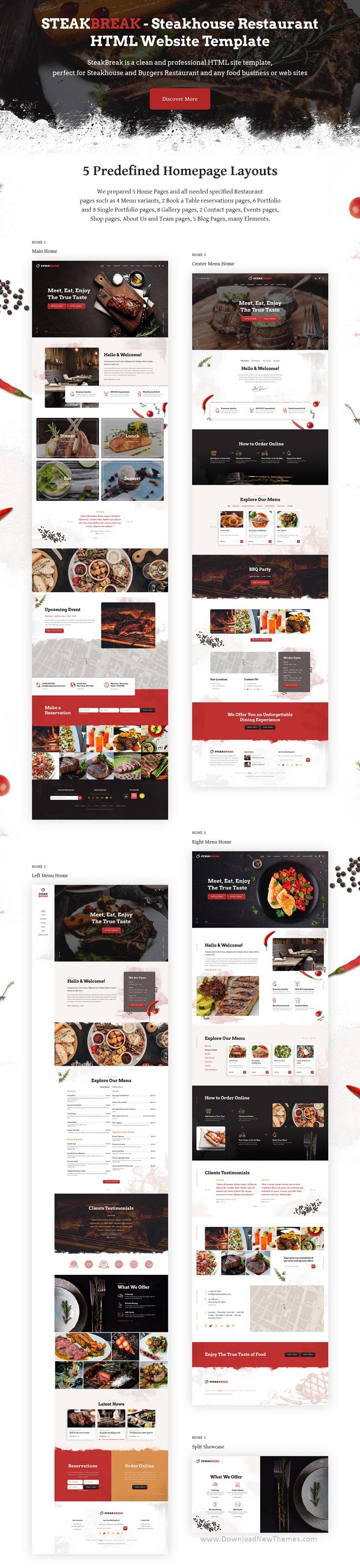 Steakhouse Restaurant Website Template