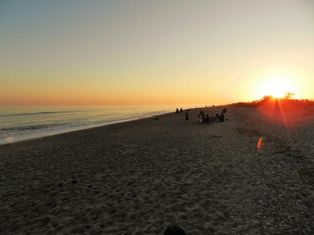 tramonto spiaggia montpellier francia