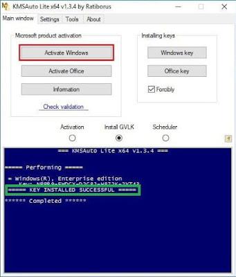 cara aktivasi windows 10 via KMSAuto Lite