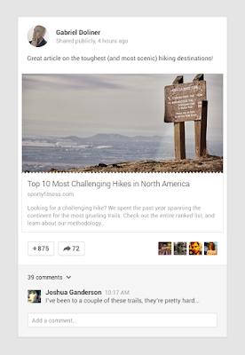Google+ Article Rendering