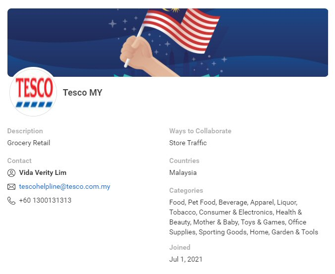 CPAS retail partner: Tesco