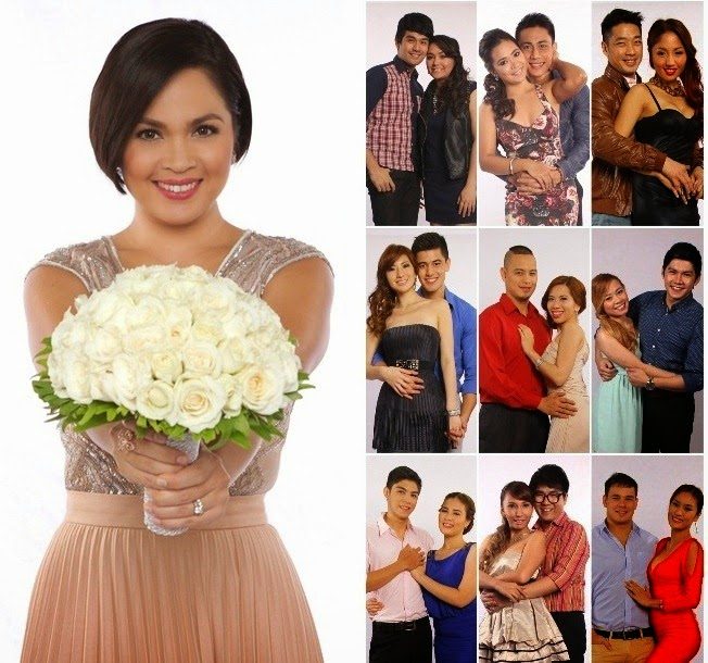 'I Do' host Judy Ann Santos-Agoncillo and the nine couples