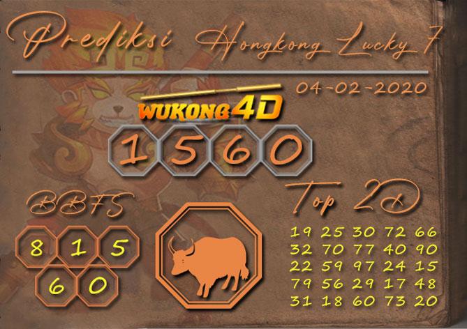 Prediksi Togel HONGKONG LUCKY 7 WUKONG4D 04 FEBRUARI 2020