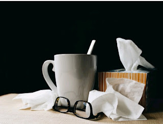 Tissues and a cup of tea