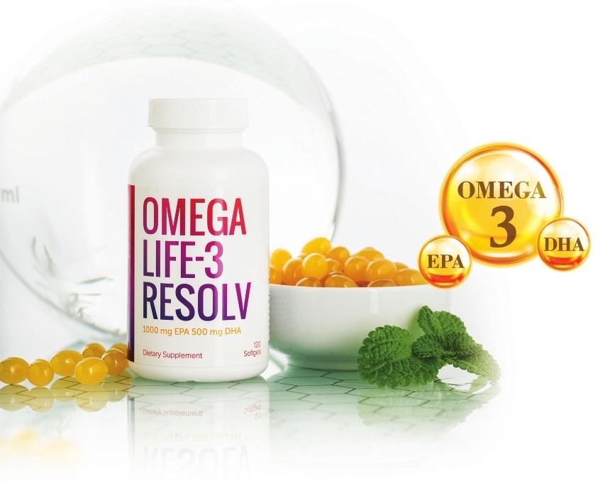 Thực phẩm bảo vệ sức khỏe Omega Life-3 Resolv Hỗ trợ giúp giảm cholesterol, hỗ trợ giảm nguy cơ mắc bệnh tim mạch do mỡ máu cao