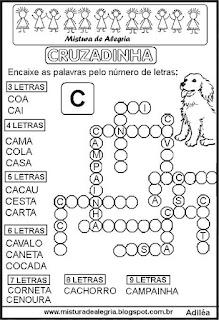 Cruzadinha com a letra C