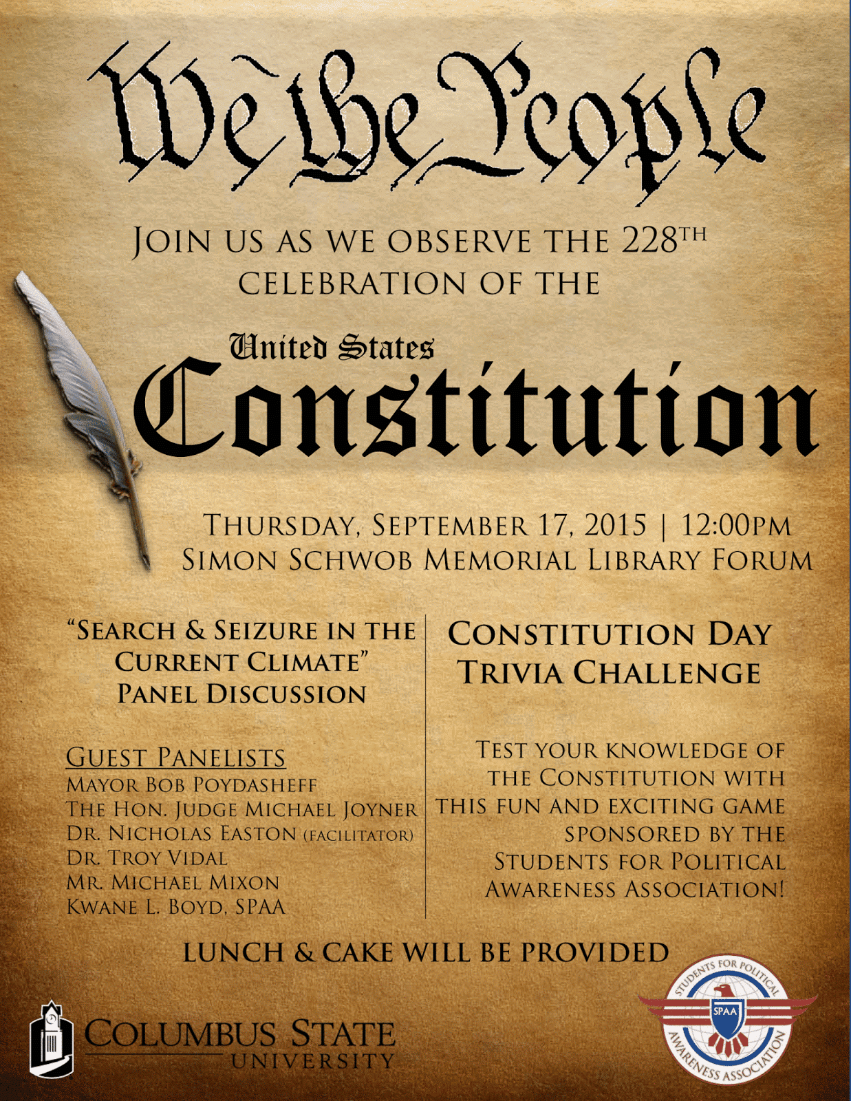 csu libraries join us for constitution day on thursday sep 17