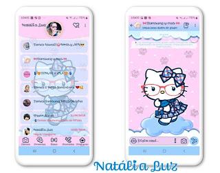 Hello kitty 1 Theme For YOWhatsApp & Fouad WhatsApp By Natalia Luz
