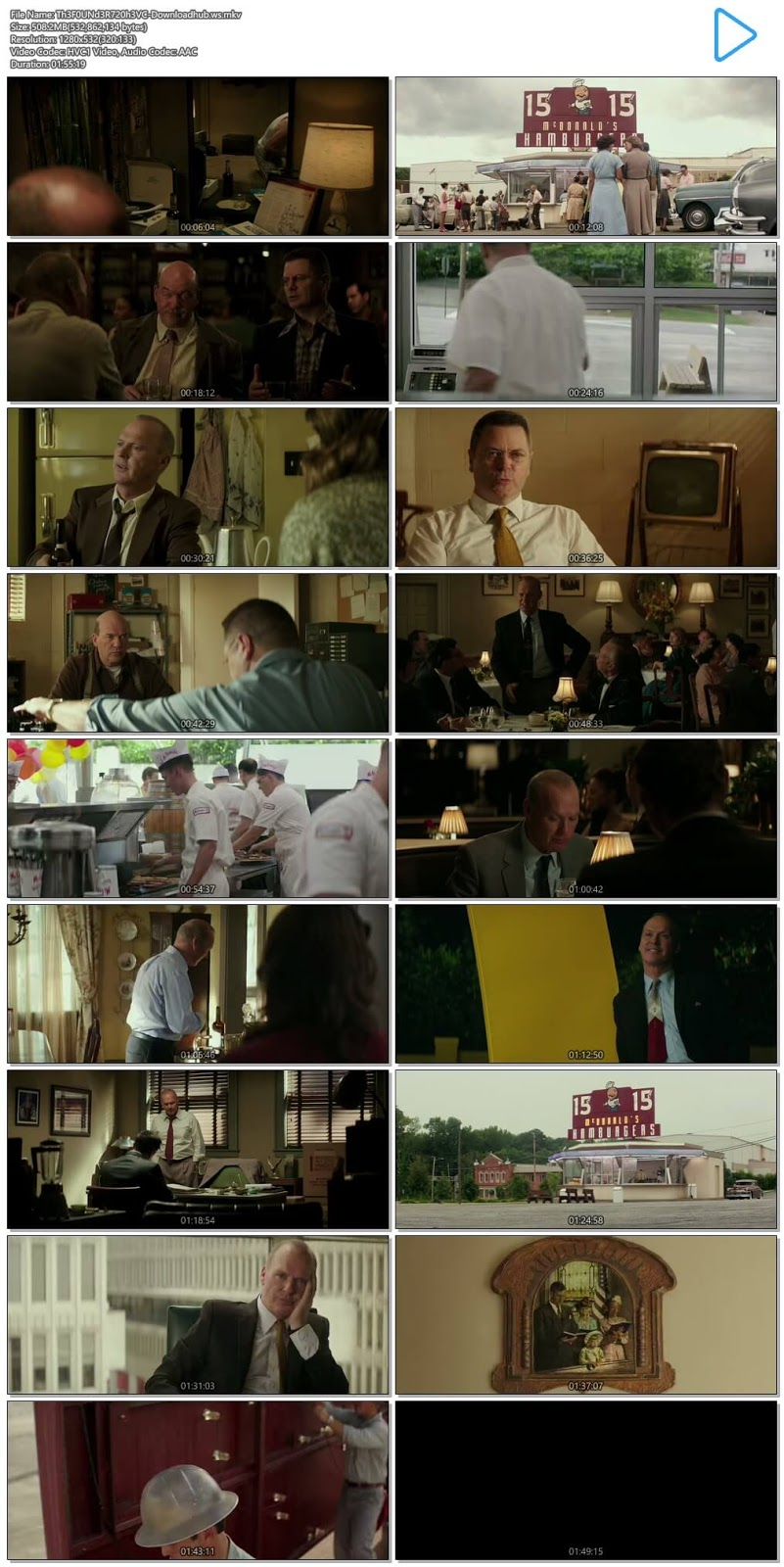 The Founder 2016 Hindi Dual Audio 720p HEVC BluRay Free Download