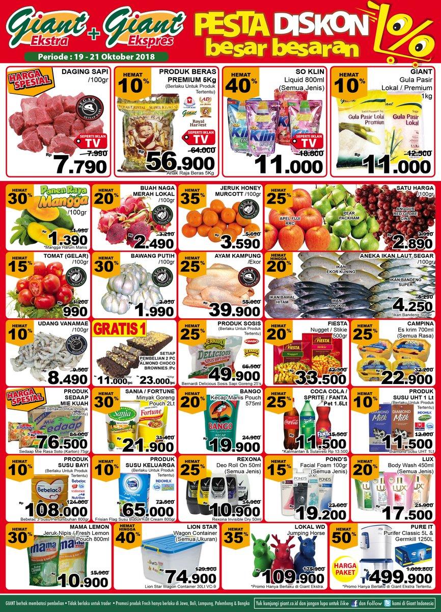 Giant - Promo Katalog Pesta Diskon Besar Besaran Periode 19 - 21 Oktober 2018