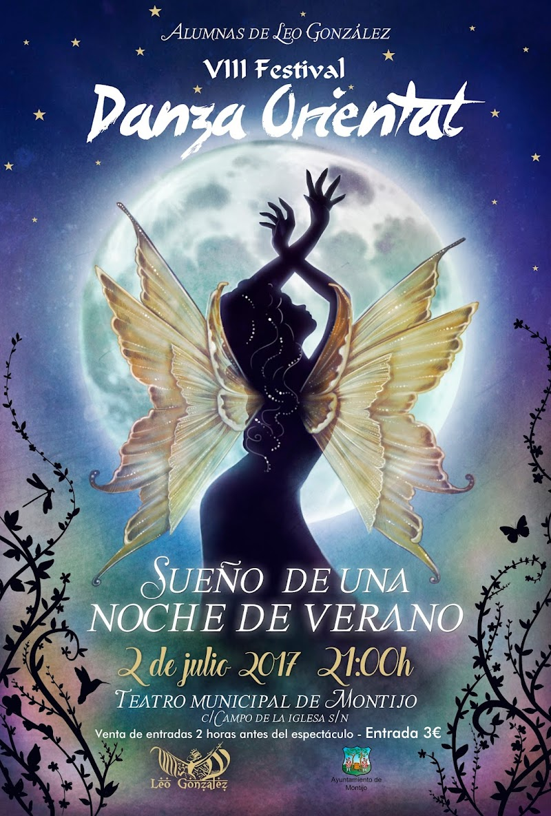 Cartel para el VIII Festival de Danza Oriental de Montijo