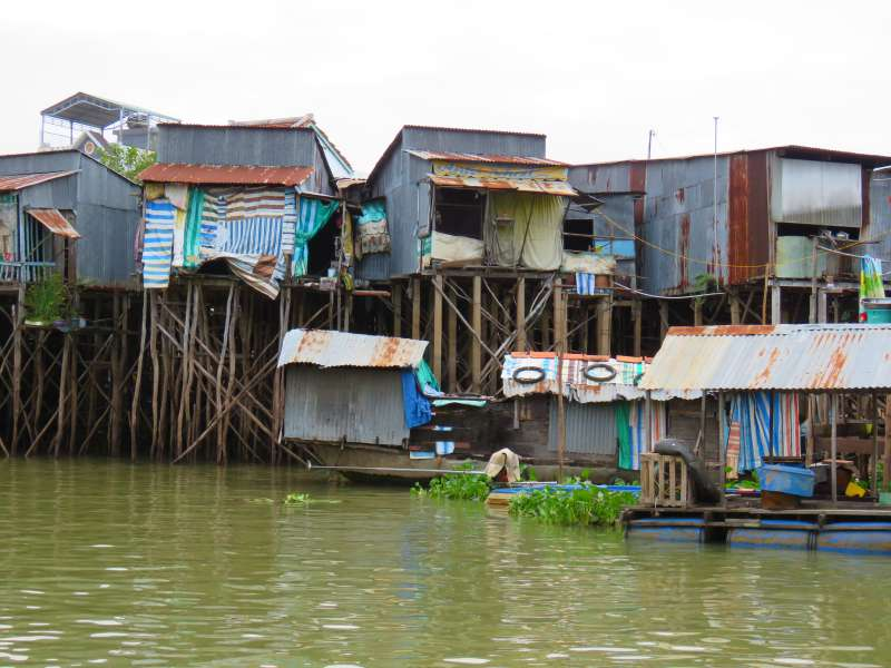 Fishermen's houses in Vietnam