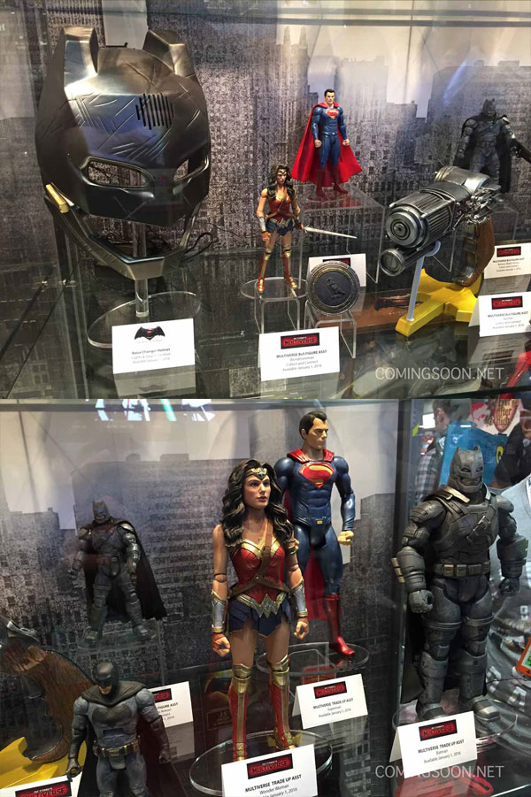 Along With The Armored Batsuit Reveal A Selection Of Movies Action Figures And Various Merchandize Where On Display