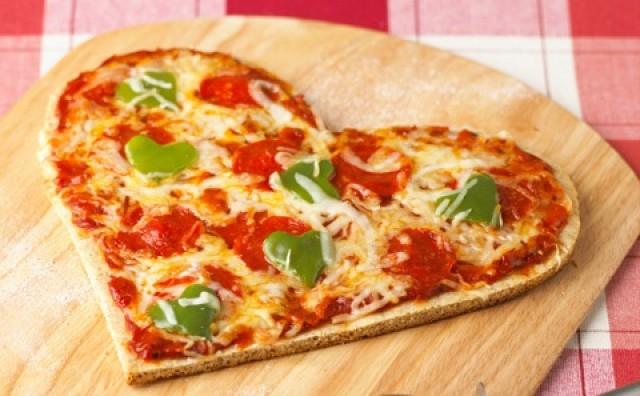 Πίτσα Καρδιά για του Αγίου Βαλεντίνου