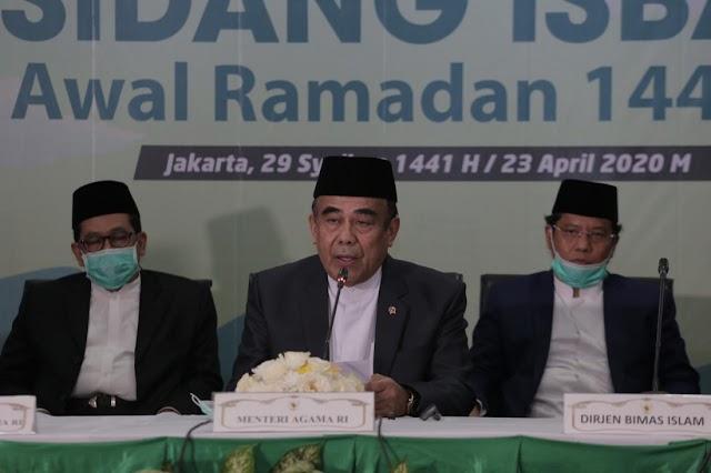 Pemerintah Tetapkan 1 Ramadan 1441H Jatuh pada Jumat, 24 April 2020