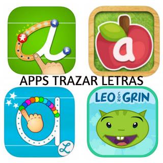 Apps para trazar letras infantil niños abecedario
