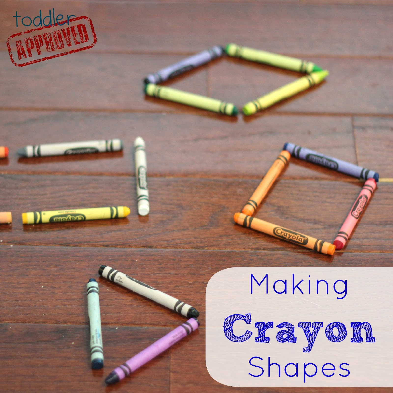 Toddler Approved Making Crayon Shapes Back To School Basics