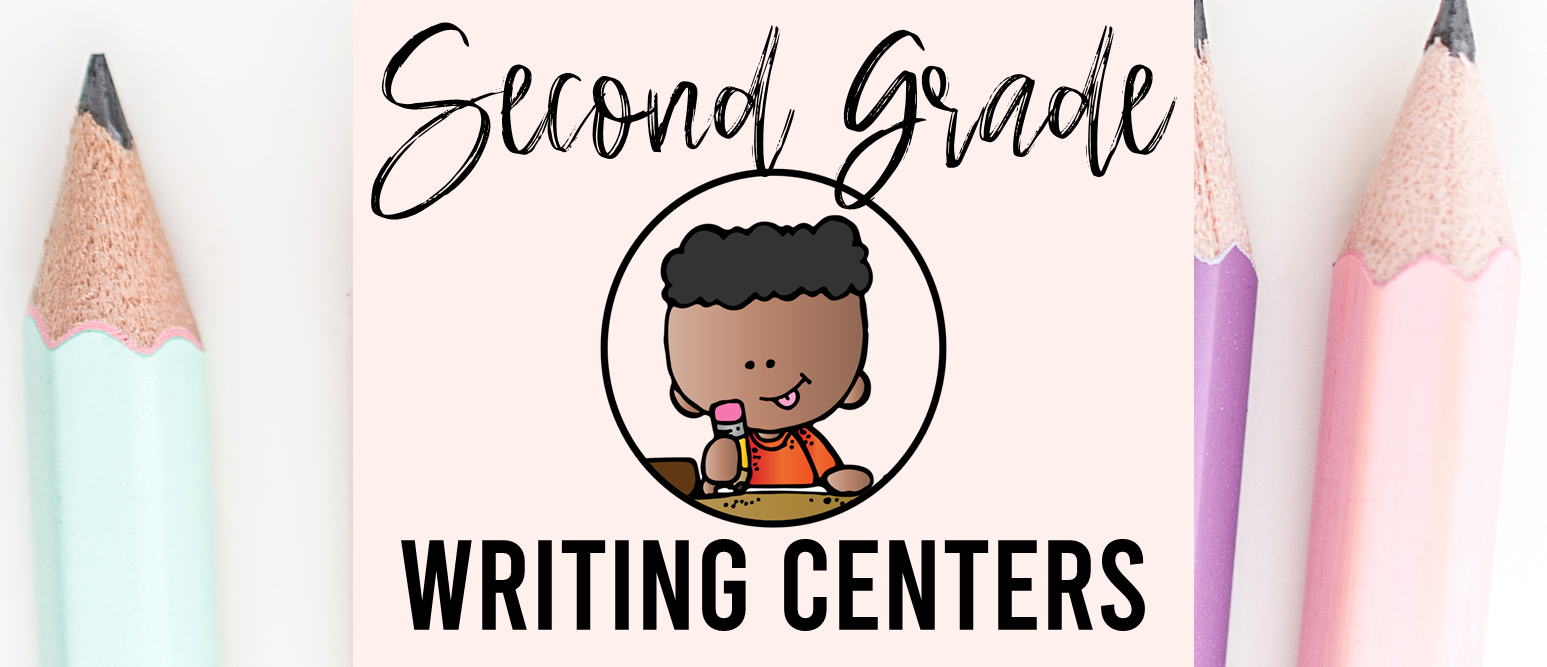 Second Grade writing centers for the whole school year with templates, prompts, poetry, graphic organizers, and more.
