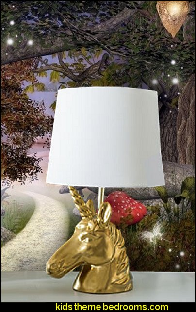 Unicorn Table Lamp   unicorn bedding - unicorn decor - unicorn duvet - fantasy theme bedroom decorating ideas - fairytale bedrooms decor - pegasus decor - unicorn wall murals - unicorn wall decals