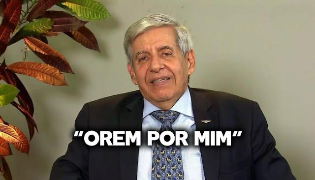 """General Heleno clama por oração do povo brasileiro após testar positivo para COVID-19: """"Preciso de vocês"""""""
