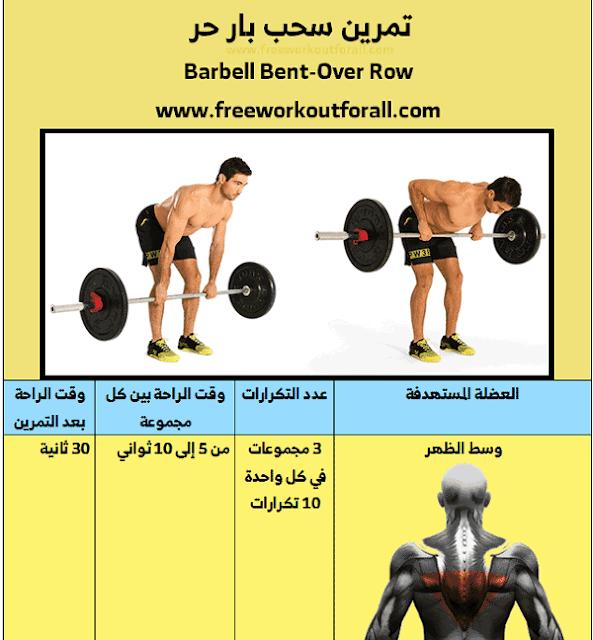 تمارين عضلات الظهر للمبتدئين