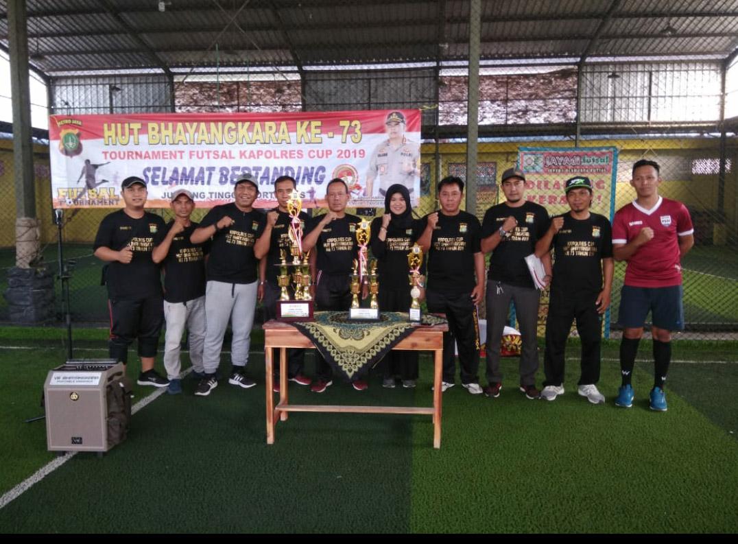 Peringati HUT Bhayangkara Ke 73 Polsek Bersama All Star Pakuhaji Gelar Turnamen Futsal Kapolres Cup 2019,