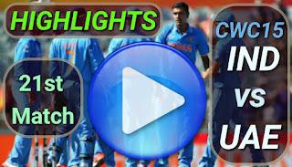 IND vs UAE 21st Match