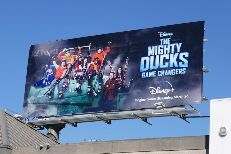 Mighty Ducks Game Changers billboard