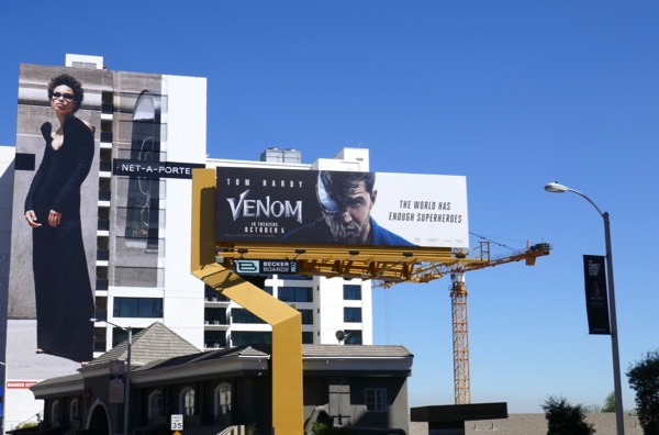 Venom film billboard