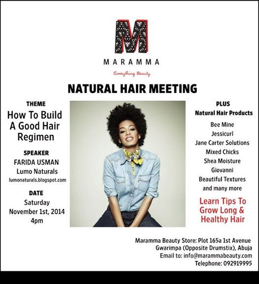 YOU Are Cordially Invited; Maramma Natural Hair Meeting Featuring Lumo Naturals