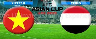 اون لاين مشاهدة مباراة اليمن وفيتنام بث مباشر 16-1-2019 كاس امم اسيا اليوم بدون تقطيع