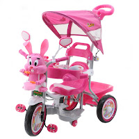 family kelinci pesawat musik dobel tricycle