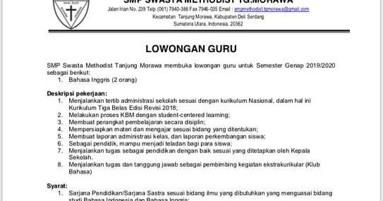 View Lowongan Kerja Guru 2021 Jakarta Background