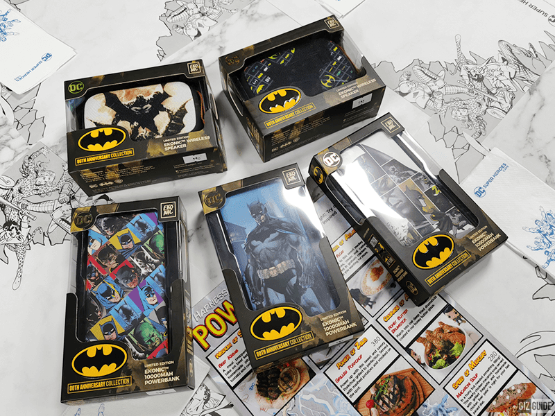 Ekonic releases Limited Edition Batman 80th power banks, speakers